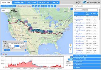 Three major ultracycling races in the US